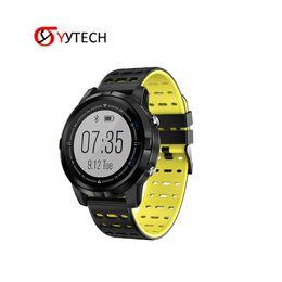 Gps Run Australia - SYYTECH N105 GPS positioning Smart Watch IP68 Waterproof Dynamic Heart Rate Monitor Running Sports smart bracelet