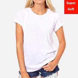 Wholesale t shirts cotton modal online – design Summer Soft White T Shirts Women Short Sleeve Cotton Modal Flexible T shirt White Color Size S xxl
