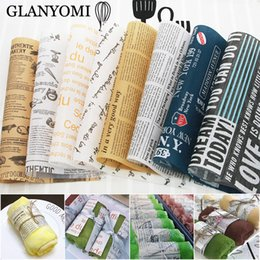 food wax paper Australia - 100Pcs Lot Wax Paper Food Grade Grease Paper Food Wrappers Wrapping Paper For Bread Sandwich Burger Fries Oilpaper Baking Tools Y200612