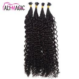 $enCountryForm.capitalKeyWord Australia - Pre Bond Fusion Hair Extension Keratin Tip Curly Hair Extension 100% Remy Human Hair 12-24inch Factory Outlet Cheap