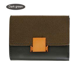 Stitch Wallet Australia - Women Frosted Pu Stitching Purses Clutch Metal Snaps Folding Wallet Short Female Wallet Fa$3 Women Bag