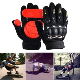 gears blocks NZ - Longboard Gloves Black Red 3 POM Protect Hand Downhill Professional Protective Gear Drift Wear Resisting Palm Block