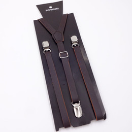 685bb29c6 Men brown leather suspenders online shopping - 2019 casual style men s  formal fashion suspenders hard