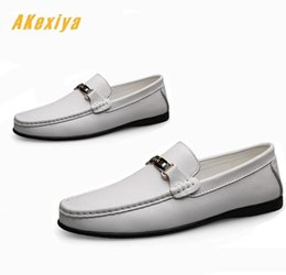Discount formal driving shoes - Men classic design gentleman Gommino flats Driving shoes Male Genuine Leather Wedding Flats Dress Homecoming Prom Formal