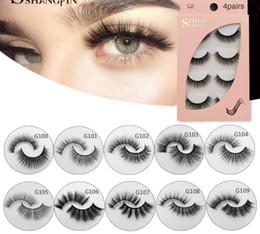 $enCountryForm.capitalKeyWord NZ - 3D Mink False Eyelashes Natural Long Full Strip Lashes Handmade Fake EyelashMakeup Tools Accessories 4 Pairs set with box package