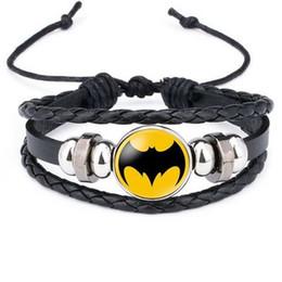 Discount superhero glasses - Marvel Bracelet 2019 Glass Cabochon Jewelry kids Superhero icon Captain America Superman Spider-Man Flash Hulk Time Gem