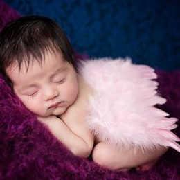 Wholesale newborn Angel Wing Photography Props Baby Pretty Angel Fairy Pink feathers Costume Photo Prop White feather Toys Party Favor AAA1612