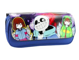 Stationery Australia - Anime Game Undertale Men Women Cosmetic Cases Double-zipper Student Stationery Bag for Gift or Collection
