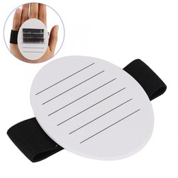 lash pallets Australia - Professional Acrylic Hand-held False Eyelash Plate Pallet Lash Extension White With Belt for False Eyelashes
