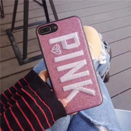 $enCountryForm.capitalKeyWord Australia - Fashion Flash 3D Embroidery Love Mobile Phone Case Hand For IPhone X XR 8 7 6 Plus Silicone Cell Phone Cases DHL Free
