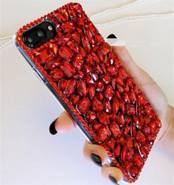 $enCountryForm.capitalKeyWord NZ - For Samsung A5 A7 2017 A8 2018 Plus A9 Luxury Girls Fashion Glitter Diamond Bling Red Rhinestone Phone Case Soft TPU Back Cover