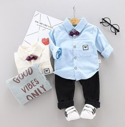 baby clothes factories UK - Children's clothing men's and women's baby autumn jeans baby children 2019 new clothes children's autumn shirt suit factory direct sales
