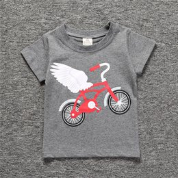 Short T Shirt Model Girl Australia - Ins explosion models 2019 spring and summer new children's short-sleeved black and white striped swan boys and girls T-shirt variety