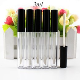 $enCountryForm.capitalKeyWord Australia - High Quality 50pcs lot 3ml Plastic Lip Gloss Tube Small Lipstick Tube with Leakproof Inner Sample Cosmetic Container DIY