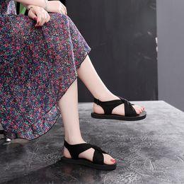 $enCountryForm.capitalKeyWord Australia - 2019 new fashion thick-soled Harajuku sandals female summer flat bottom casual beach shoes tide