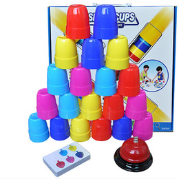 game cups Australia - Brain Warfare Quick-stack Cup Children's Table Games Enlightenment Learning Mother-Child Game Interactive Toy Gift