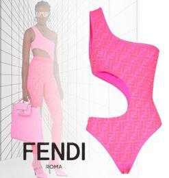 Best Bikini swimsuits online shopping - 2020 Newest Sexy One Shoulder Womens Swimsuits Bikinis Best Quality FL Fuchsia Ladies Female Bathing Suits Beach Swimwear Drop shipping FD21