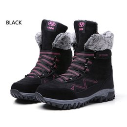 $enCountryForm.capitalKeyWord Canada - Suede Leather Snow Boots Women 2019 New Winter Warm Waterproof Ladies Lace-up Ankle Boots Flat Female Plush Shoes Big SIZE 4142