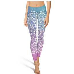 Background Prints Australia - Mandala vector Colorful background High Waist Yoga Pants Womens Gym Yoga Pants Sweat Wicking Training Tights Cool Leggings Blac