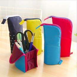 $enCountryForm.capitalKeyWord Australia - 20 PCS Pencil Pouch Standing Pen Holder Pencil Bags Stand Up Pen Case