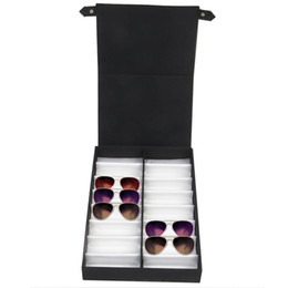 Displays for clothes online shopping - Glasses display case pairs Storage box with foldable lid for sunglasses glasses box Black white