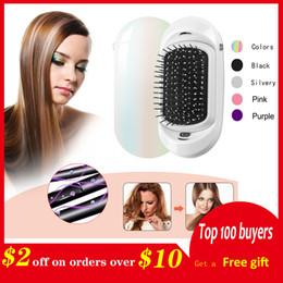 $enCountryForm.capitalKeyWord Australia - Ionic Electric Hairbrush, 2.0 Portable Electric Ionic Hairbrush Double Negative Ions Hair Brush Hair Styling Scalp Massage Comb J190717