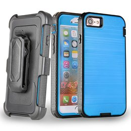 Iphone Case Clip Combo Australia - For iPhone 6 7 8 Plus X XS MAX XR Metal Brushed Combo Holster Kickstand Case Belt Clip Hybrid Case Without Screen Protector