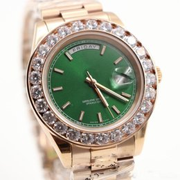 $enCountryForm.capitalKeyWord Australia - Hot sale watch men Day-Date automatic movement sapphire Diamonds watch Green face rose gold Stainless mens watches Free shipping