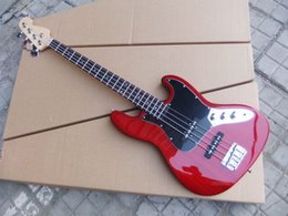 $enCountryForm.capitalKeyWord Australia - Free shipping! wholesale right-Handed wine red Electric Bass Guitar with 4 Strings,black pickups guitar 0610