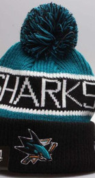 Military Green Army Beanies NZ - Discount Sport Knit hat Sharks Beanie Football Sideline Cold Weather hats Fashion beanies winter Warm Knitted Wool Skull Cap