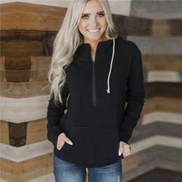 Wholesale women sherpa jackets for sale – custom Autumn Winter hoodies Women Zipper Sherpa Soft Fleece Pullover solid Sweater Outwear Coat kangaroo Pockets jackets Sweatshirts CNY876