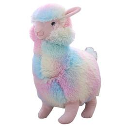 $enCountryForm.capitalKeyWord UK - 1Pcs 30cm Rainbow Alpaca Plush Toy Vicugna Pacos Japanese Soft Plush Alpacasso Sheep Llama Stuffed Toy Gifts for kids and Girls