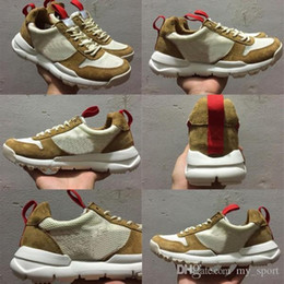 Shoes For Crafts Australia - Tom Sachs X Craft Mars Yard 2.0 Ts Nasa Running Shoes For Men Aa2261-100 Natural Sport Red Shoe Zapatillas Vintage