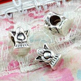 60pcs 10.1 * 8.9MM antico argento tibetano angelo fata perline ornamento fascini per il braccialetto vintage in metallo perline sparse gioielli fai da te fare