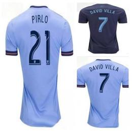 9321d545106 Discount Cheap New York City 18-19 Thai Quality Customized 7 DAVID VILLA 21  PIRLO Jerseys Soccer Jersey Shirt