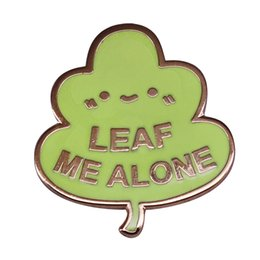 personal christmas gifts NZ - Leaf Me Alone fun pun pin perfect gift for anyone who loves their personal space