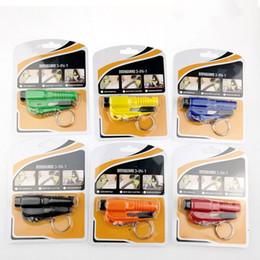 Emergency Car Window Breaking Tool NZ - Mini 3 In 1 Car Styling Pocket Auto Emergency Escape Rescue Tool Glass Window Breaking Safety Hammer with Keychain Seat Belt Cutter