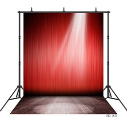 Red Cloth Curtain Australia - spotlight photography backdrop red curtain wooden floor photo background for party children vinyl cloth backgrounds photo studio