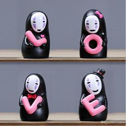 Home Cartoon Toys Australia - New Creative Miyazaki Spirited Away No Face Man With LOVE Doll Fidget Toys Car Lovers' Ornament Car Home Party Decoration Toys Gift
