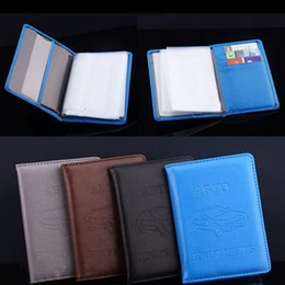 $enCountryForm.capitalKeyWord Australia - Russian Auto Driver License Bag Pu Leather On Cover For Car Driving Documents Card Note Credit Holder Case