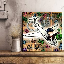 $enCountryForm.capitalKeyWord Canada - Alec Monopoly Airplane Canvas Painting Wall Picture Poster And Print Decorative For Living Room Home Decor