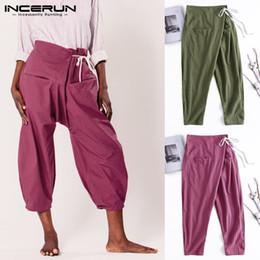 3df654fd0e5398 Stylish 2019 Harem Men Pants Big Drop-Crotch Trousers Loose Baggy Joogers  Drawstring Elastic Waist Male Pants Pantalon Yoga-pant