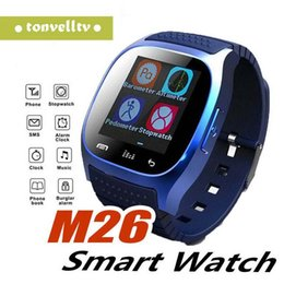 $enCountryForm.capitalKeyWord NZ - M26 Bluetooth Smart Watches M26 for iPhone 6 6S Samsung S5 S4 Note 3 HTC Android Phone Smartwatch for Men Women Factory Price