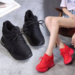 $enCountryForm.capitalKeyWord Australia - Nei Zengtao Women's Shoes Spring 2019 New Type Mesh Korean Muffin Baitao Leisure Slope heel Air Cushion Student Sports Shoes