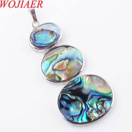 Großhandel WOJIAER Natürliche Neuseeland Abalone Shell Edelstein Perlen Anhänger Halskette Frauen Schmuck 1 STÜCKE DN3641