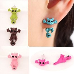 Kitty For Free Australia - 1 PC 2PCS New Arrival 3D imitation pearl Kitty Cat Cute Stud Earrings set for Women Girl 9 colors Free shipping