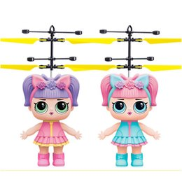 $enCountryForm.capitalKeyWord Australia - Hot sales induction flying toy Little girl doll flying fairy suspended luminous crystal ball helicopter induction plane as children's toys