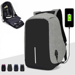 packed backpack Canada - Anti-theft Backpack Bag 15.6 Inch Laptop Notebook Mochila Male Waterproof Back Pack Backbag Large Capacity School Backpack SH190918