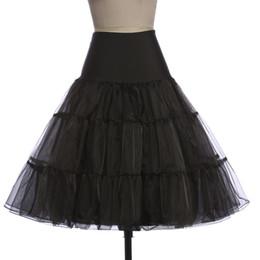 $enCountryForm.capitalKeyWord Australia - White Black Tulle Short Bridal Wedding Petticoat Crinoline Rockabilly Woman Tutu Skirt Linen Underskirt Wedding