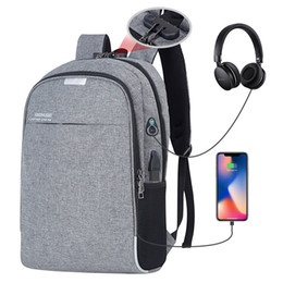 Styles Backpacks Australia - Laptop Backpack Men Usb Charging Computer Backpacks Casual Style Bags Large Bagpack Male Business Travel Bag Sac A Dos Back Pack Y19061204